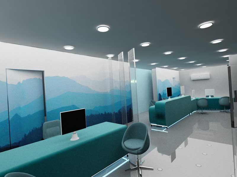 Travel agency office decoration the for Interior design travel agency office